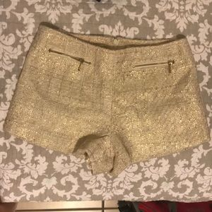 Gold and white shorts